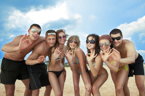 Divemaster internship Social with interns on the Beach Canary Islands